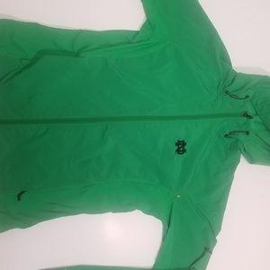 Green Women's Notre Dame Columbia Jacket Sz Large